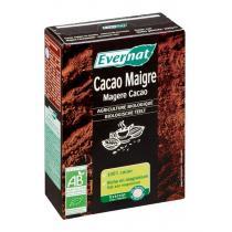 Evernat - Cacao maigre, Sans sucres ajoutés, 200g