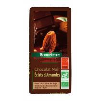 Bonneterre - Chocolat noir éclats amandes, 100g