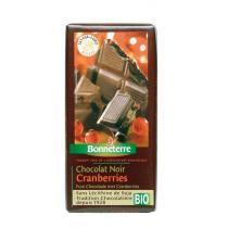 Bonneterre - Chocolat noir cranberries, 100g