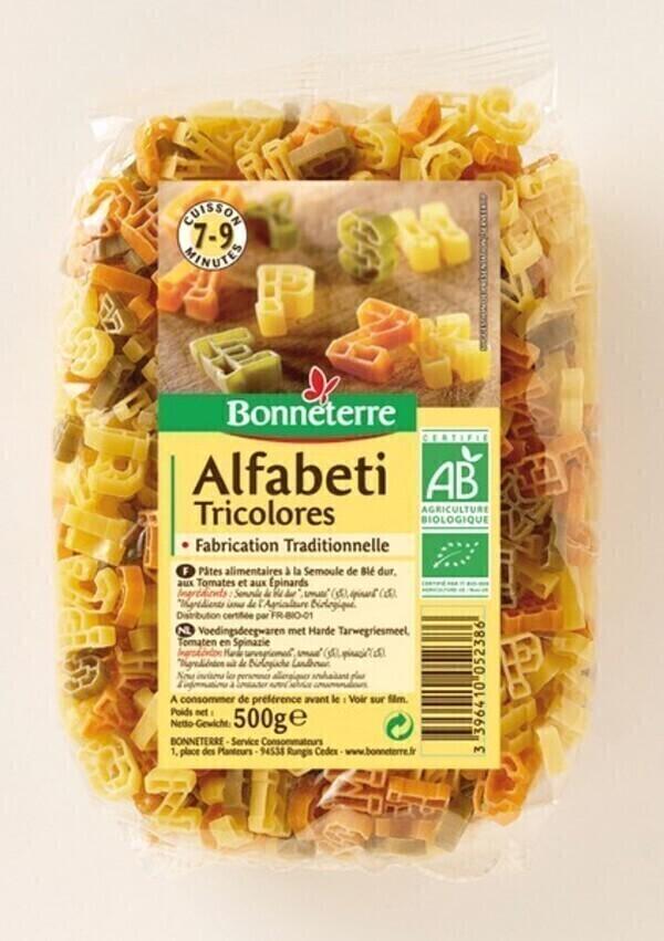 Bonneterre - Alphabets Tricolores - 500g