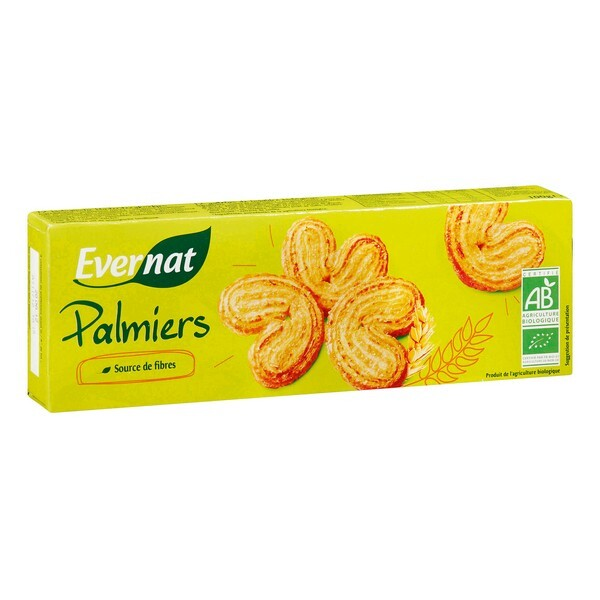 Evernat - Biscuits Palmiers 100g