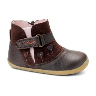 "Bobux - Chaussures ""Sweet heart boot"", Collection Step up, coloris choco"