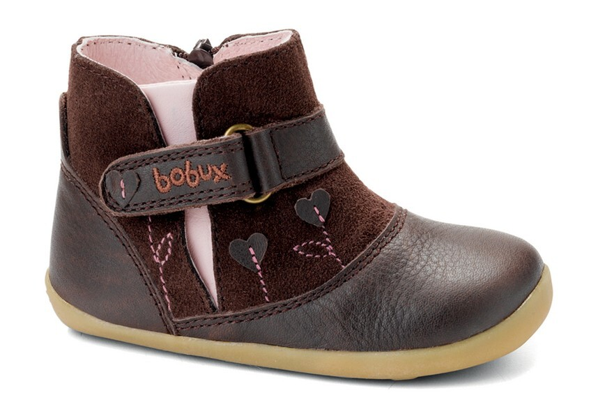 """Bobux - Chaussures """"Sweet heart boot"""", Collection Step up, coloris choco"""