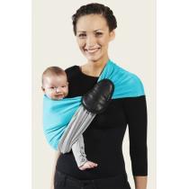 Je Porte Mon Bebe - La petite écharpe de portage sans noeud, réversible, turquoise/c