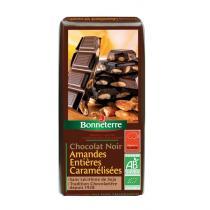 Bonneterre - Chocolat noir aux amandes entières caramélisées, 200g