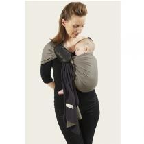 Je Porte Mon Bebe - La petite écharpe de portage sans noeud, réversible, anthracite/