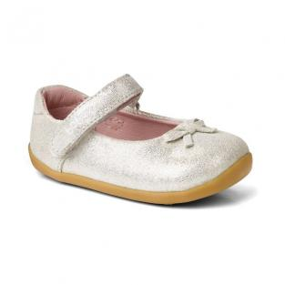 "Bobux - Ballerines Step up ""Little-bo-beep"", en cuir, coloris argenté, t"