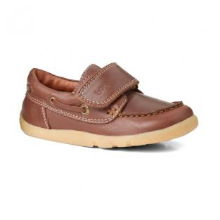 "Bobux - Chaussures I Walk ""Dock side"", en cuir, coloris marron, taille a"
