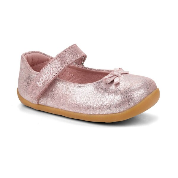 "Bobux - Ballerines Step up ""little-bo-beep"", en cuir, coloris rose brill"