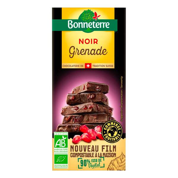 Bonneterre - Tablette chocolat Noir Grenade 100g