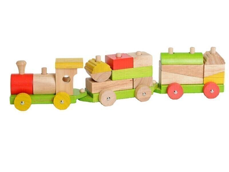 EverEarth - Train avec cubes à assembler - dès 18 mois