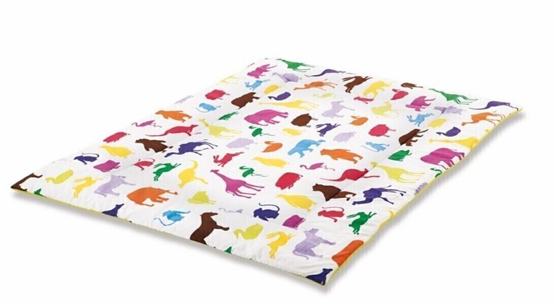 tapis d 39 veil happy zoo r versible 135 x 100 sieger design pinolino la. Black Bedroom Furniture Sets. Home Design Ideas