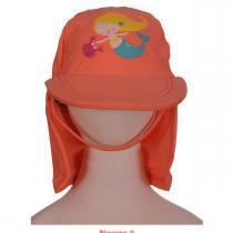 Piwapee - Casquette Anti-UV modèle légionnaire, Sirène, coloris corail, ta