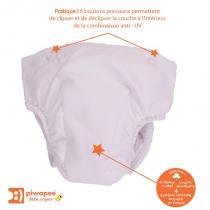 Piwapee - Couche clipsable pour combinaisons anti-UV Papillon et Ourson