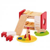 Hape - Chambre d'enfant - meubles maison de poupée