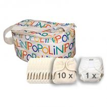 Popolini - Lot de 10 couches 1 culotte et 1 sac
