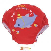 Piwapee - Maillot de bain - couche, collection Dauphin, coloris rouge