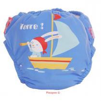 Piwapee - Maillot de bain- couche, Lapin moussaillon, coloris bleu, taille