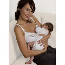 Carriwell - Soutien-gorge d'allaitement, coton bio, coloris blanc, taille au