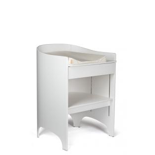 Leander - Commode à langer évolutive, coloris blanc satiné