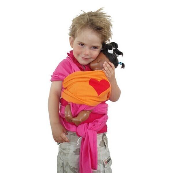 ByKay - Echarpe de portage pour poupée, coloris fushia orange. Loading zoom 4919a00bc44