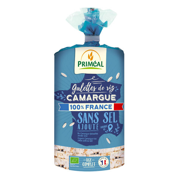 Priméal - Galettes riz de Camargue sans sel 100% France 130g