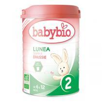 Babybio - Lot 6 boites Lunea 2 Lait de Suite BIO 6-12 mois