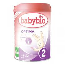 Babybio - Lot 6 boites Optima 2 Lait de Suite BIO 6-12 mois