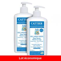 Cattier - Lot de 2 Gels lavant doux Bébé Bio 500 ml
