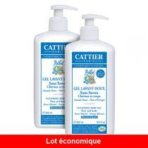 Cattier - Schonendes Baby-Wasch-Gel 2 x 500ml