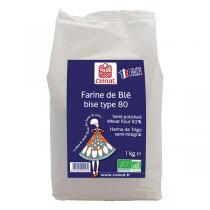 Celnat - Farine de blé Bise T80 bio - 1kg