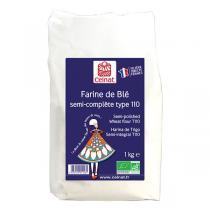 Celnat - Farine de blé Semi complète T110 bio - 1kg