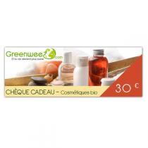 Greenweez.com - Chèque cadeau 30 Euros Cosmétiques Bio