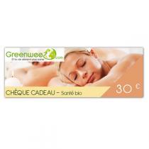 Greenweez.com - Chèque cadeau 30 Euros Santé