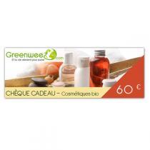 Greenweez.com - Chèque cadeau 60 Euros Cosmétiques Bio