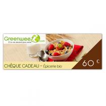 Greenweez.com - Chèque cadeau 60 Euros Epicerie bio