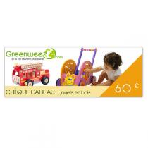Greenweez.com - Chèque cadeau 60 Euros Jouets en bois
