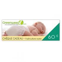 Greenweez.com - Chèque cadeau 60 Euros Puériculture
