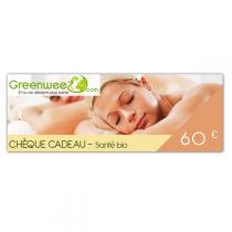 Greenweez.com - Chèque cadeau 60 Euros Santé
