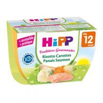 HiPP - Bol Risotto Carottes Panais Saumon dès 12 mois 220 g