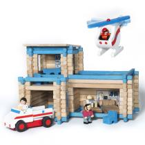 Jeujura - Wooden Rescue service Toy - 155 pieces