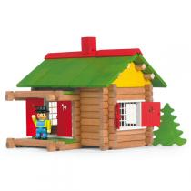 Jeujura - Wooden Construction Chalet Toy In Suitcase - 100 pieces