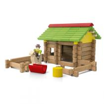 Jeujura - Wooden Construction Chalet Toy - 64 pieces