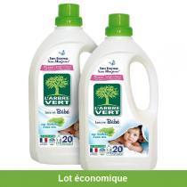 L'Arbre Vert - Lot de 2 Lessives Liquide concentrée pour Bébé 1.5L