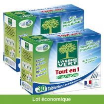 L'Arbre Vert - Lot de 2 Tablettes Lave-Vaisselle Tout en 1