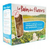 Le pain des fleurs - Lot de 6 paquets de tartine sarrasin sans sel ni sucres 150g