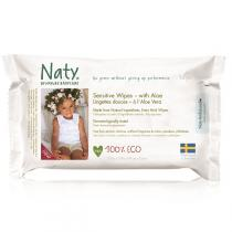 Naty by Nature Babycare - 56 Lingettes douces Eco Aloe vera