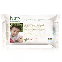 Naty by Nature Babycare - 56 Lingettes douces Eco - Sans parfum