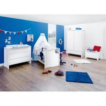 Pinolino - Chambre bébé 3 pièces Aura Blanc
