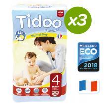 Tidoo - Lot de 3 paquets 50 Couches jetables Tidoo T4 Maxi 7-18kg